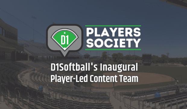 D1 Players Society Announcement - Softball